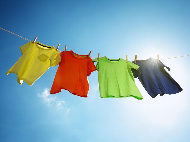 Wäsche an der Leine