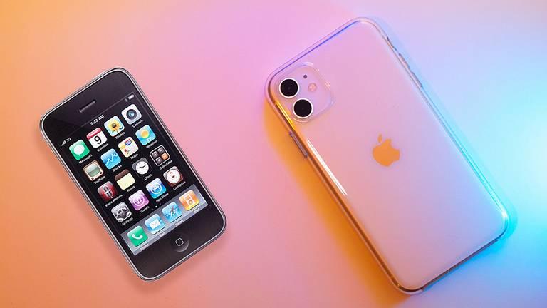iPhone 3G (erste Generation) und iPhone 11