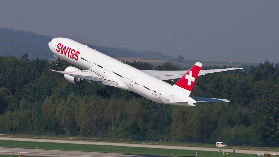 Swiss-Flugzeug