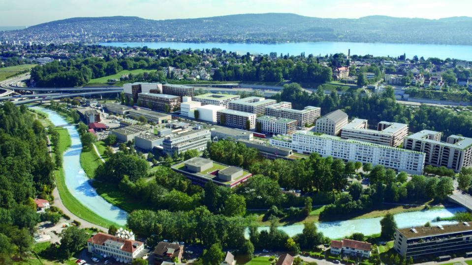 Siedlung Greencity Zürich Luftaufnahme