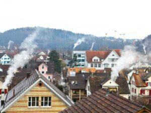 Dächer Rauch Heizungen